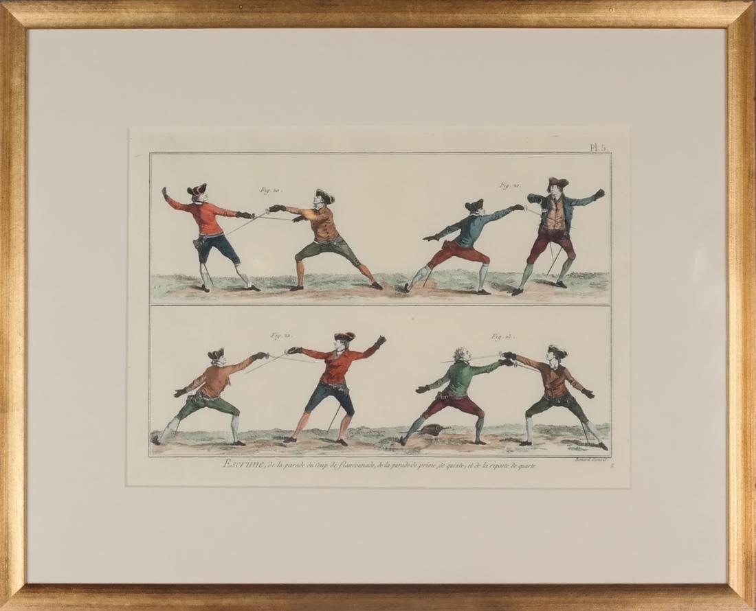9 Benard Direxit Color Fencing Prints - 9