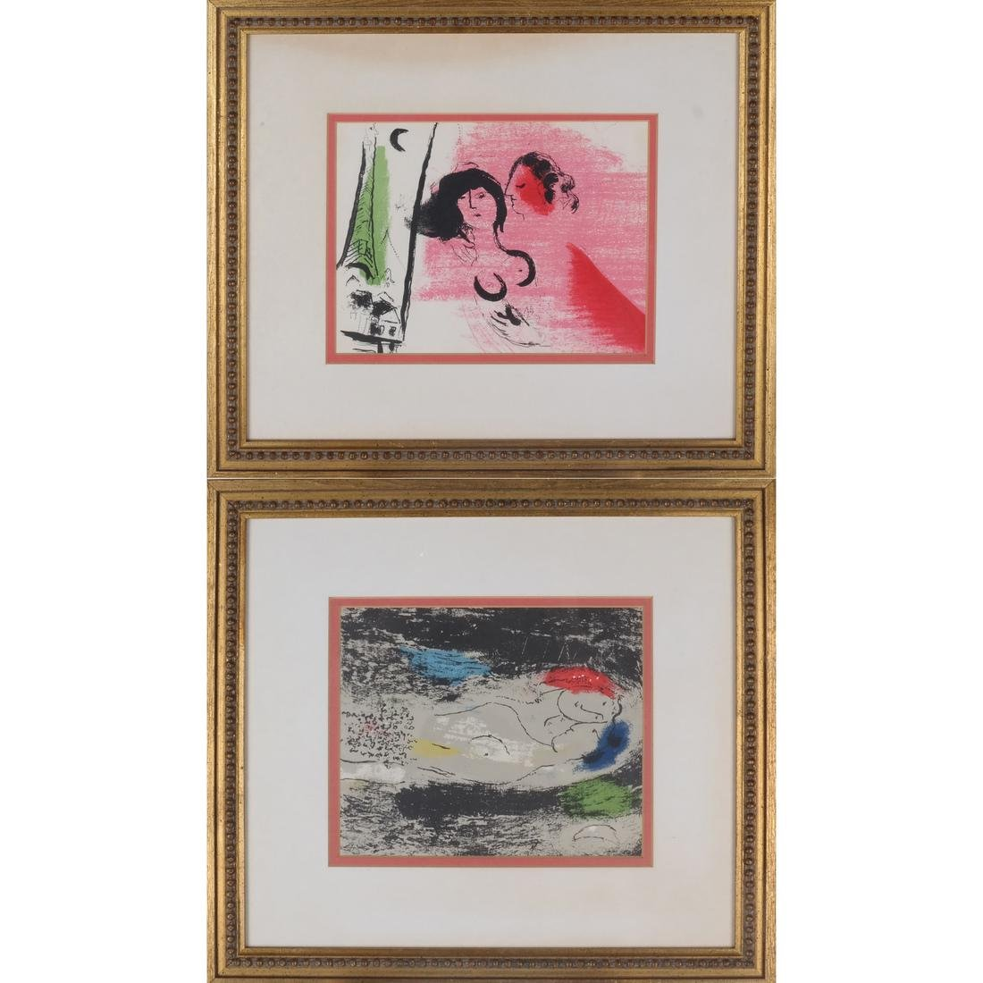 Two Marc Chagall-Style Prints