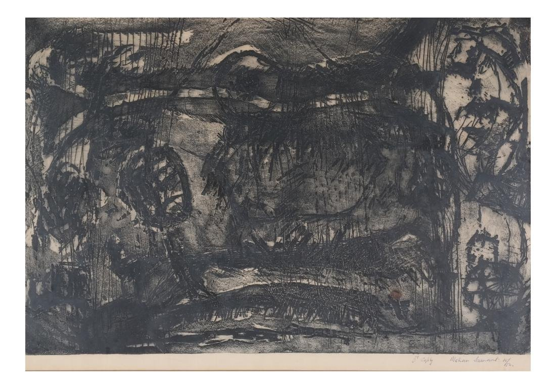 Mohan Samant: Abstract Lithograph