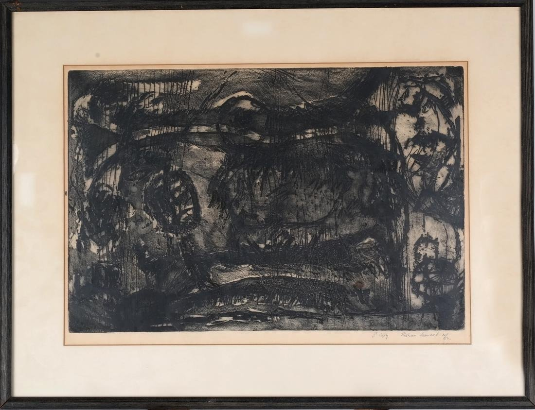 Mohan Samant: Abstract Lithograph - 2
