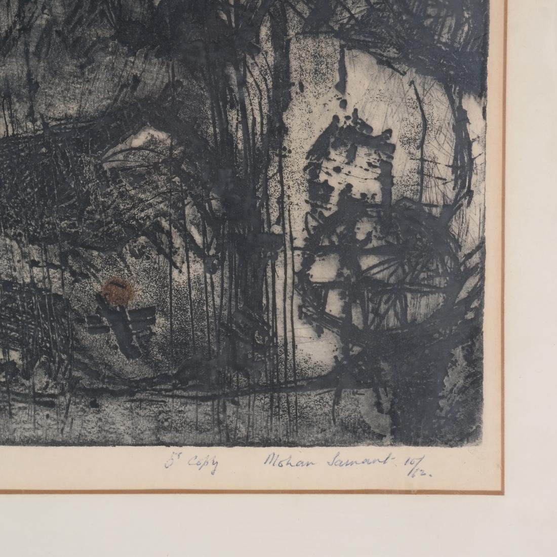 Mohan Samant: Abstract Lithograph - 3