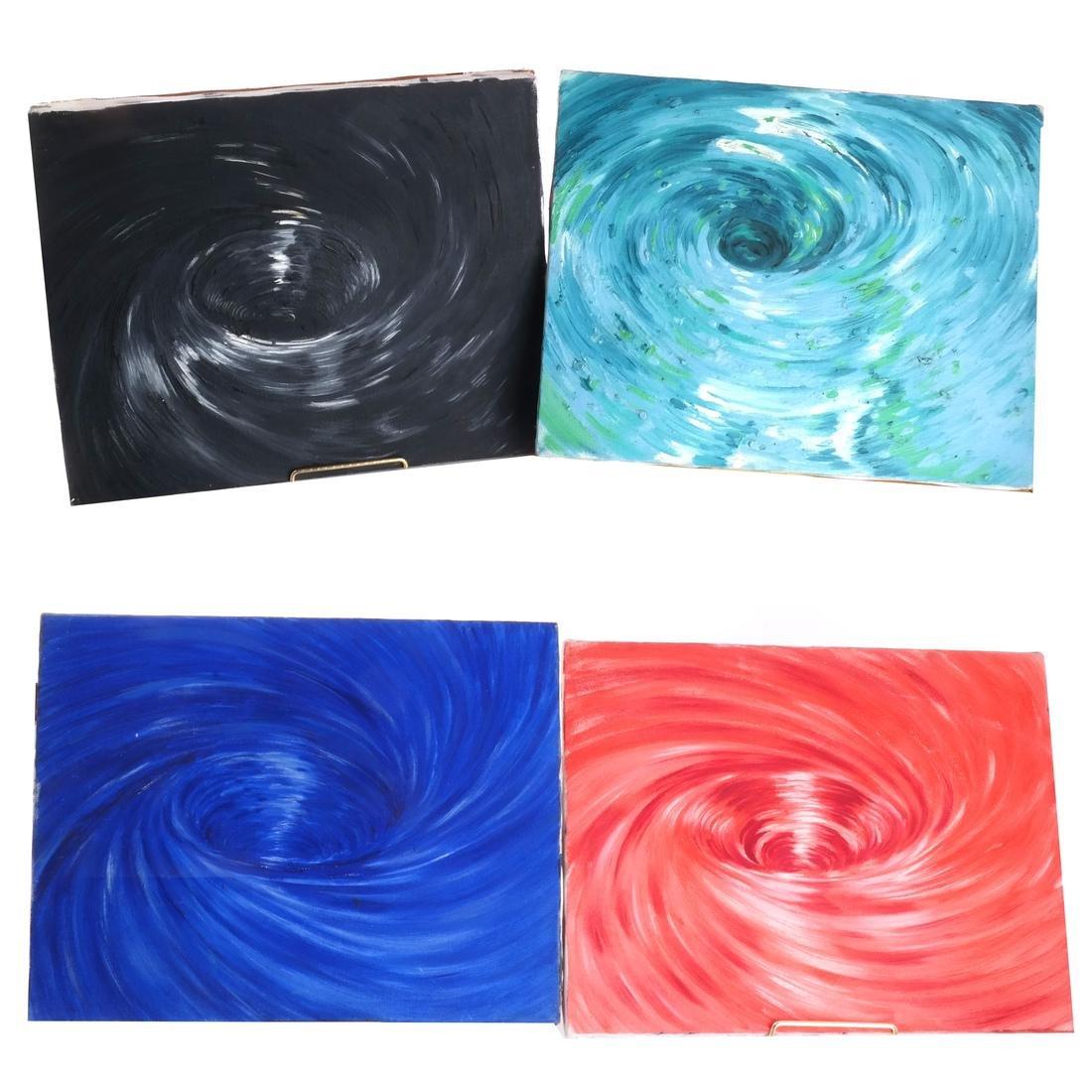 Ben Bianchi: Vortex, Set of Four Oils on Canvas