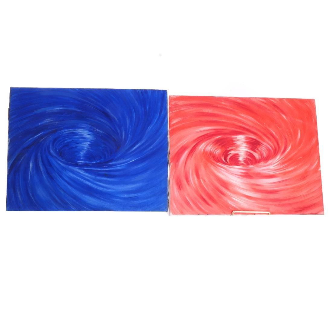 Ben Bianchi: Vortex, Set of Four Oils on Canvas - 2