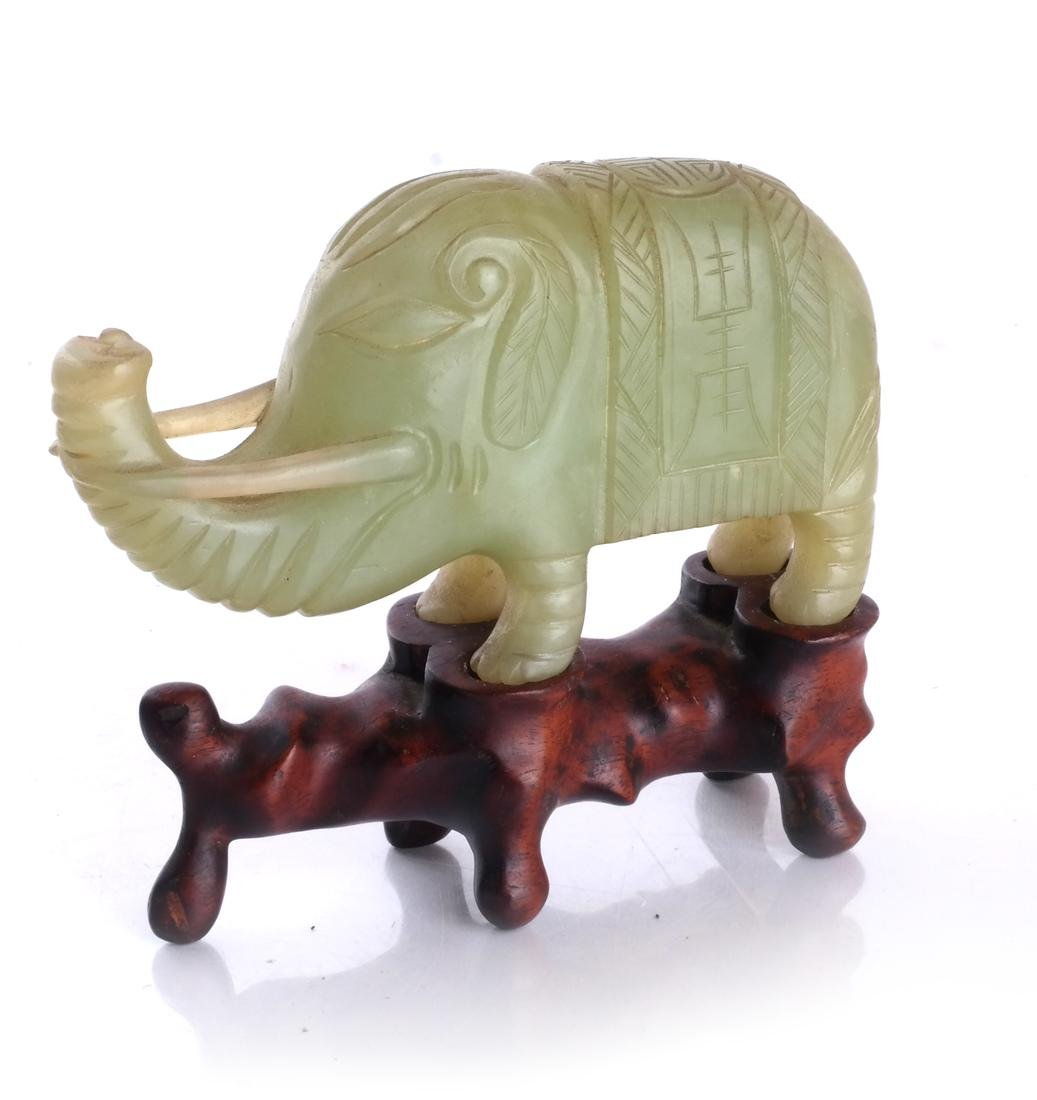 Asian Hardstone Elephant Sculpture