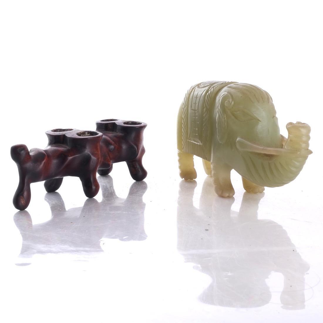 Asian Hardstone Elephant Sculpture - 2
