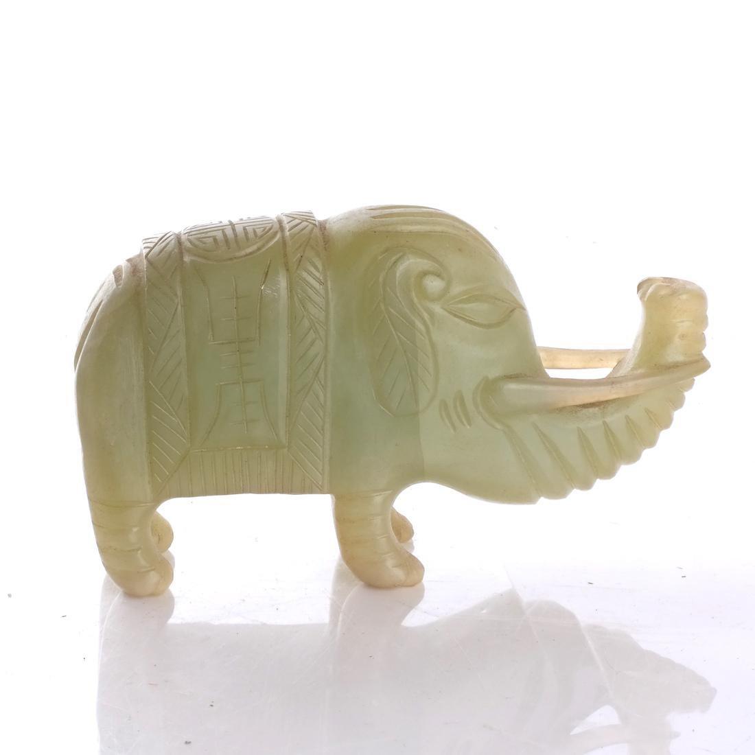 Asian Hardstone Elephant Sculpture - 3