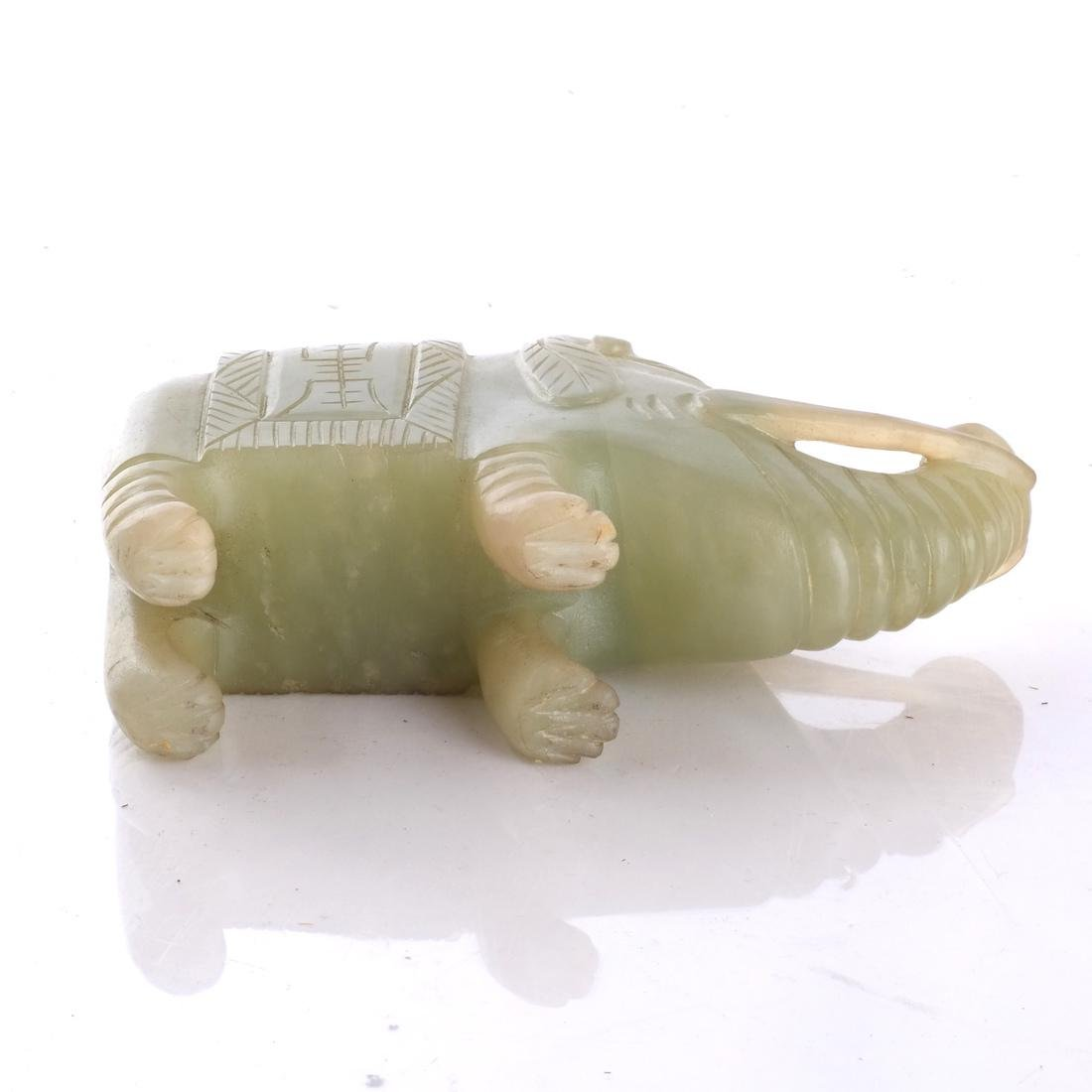 Asian Hardstone Elephant Sculpture - 6