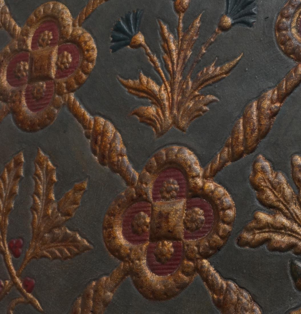 French Embossed & Stenciled Leather Sample - 3