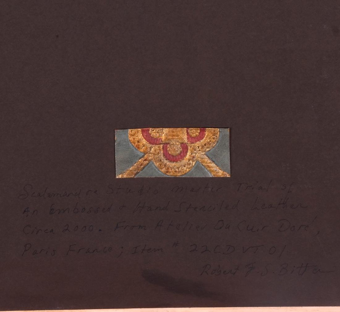 French Embossed & Stenciled Leather Sample - 5