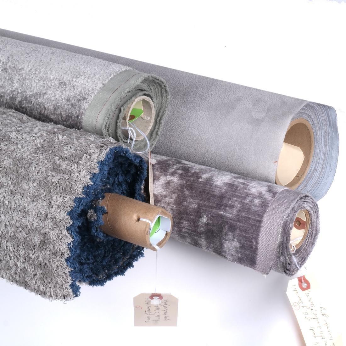 Lavender Grey Modern Designer Fabrics: 4 Bolts