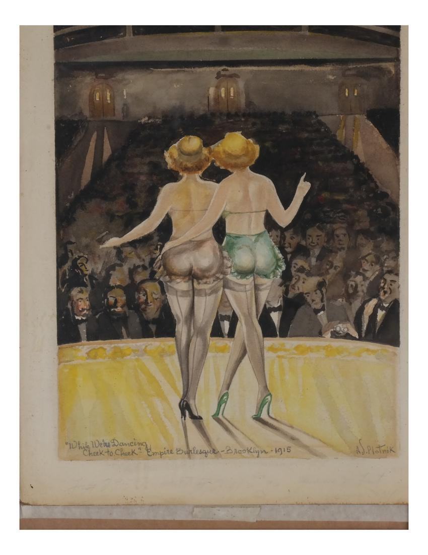 A.J. Plotnik: Watercolor - Dancers