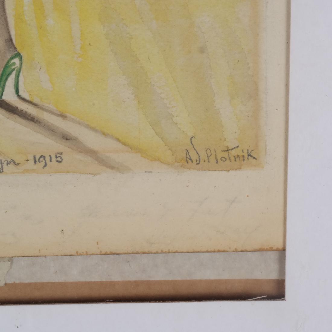 A.J. Plotnik: Watercolor - Dancers - 3