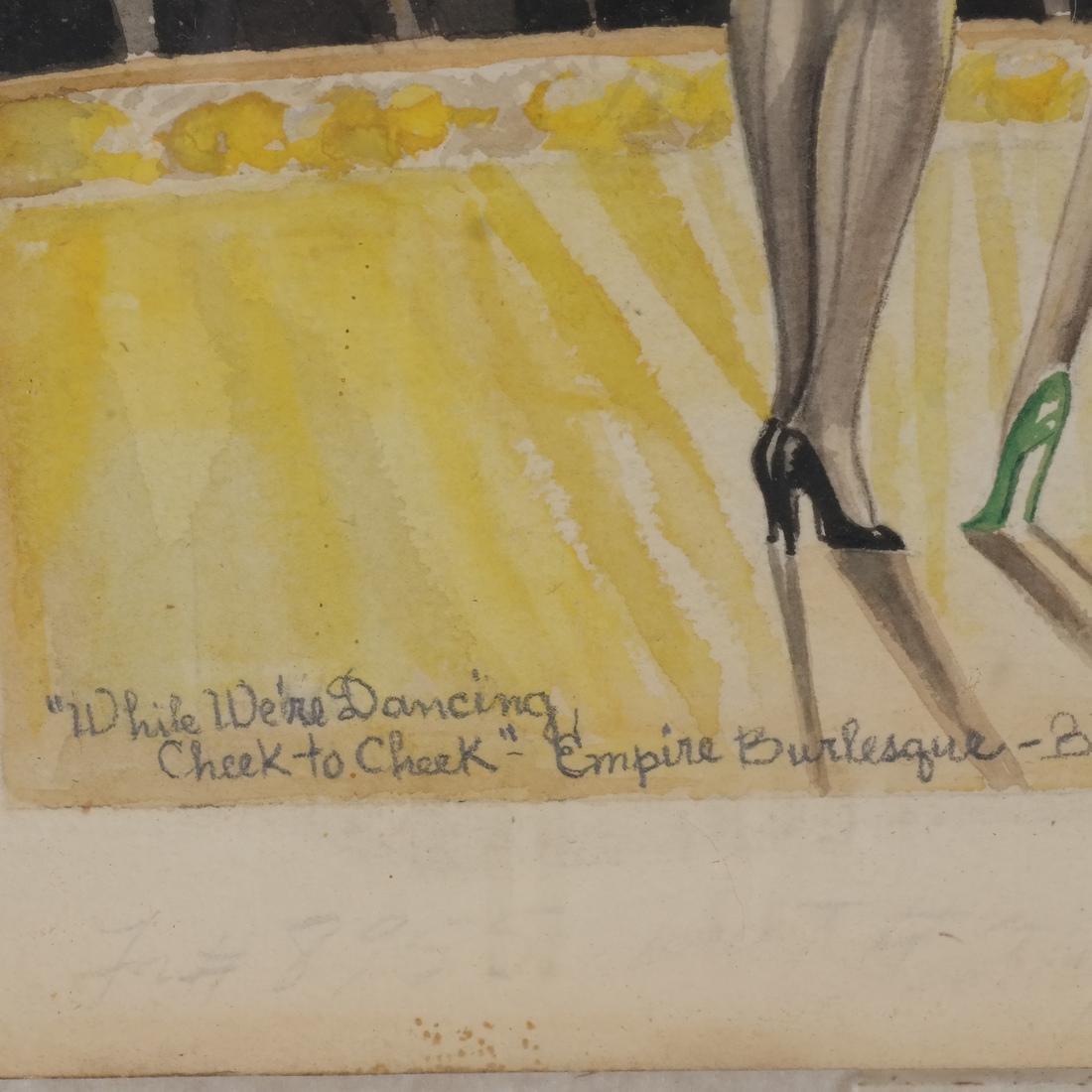 A.J. Plotnik: Watercolor - Dancers - 5