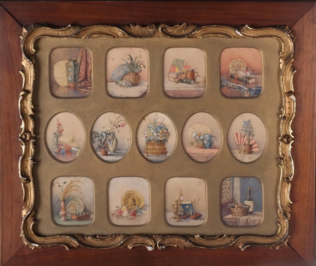 Miniature Still Life Paintings, Antique