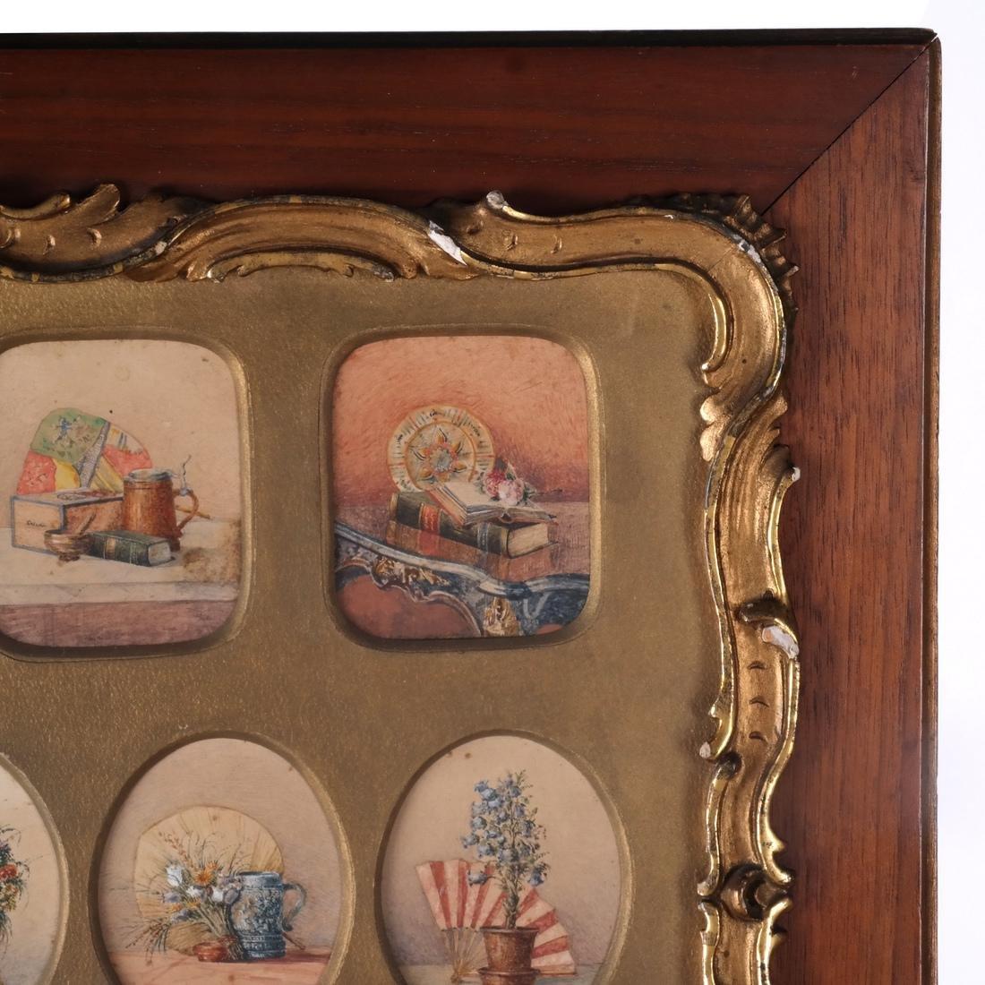 Miniature Still Life Paintings, Antique - 3