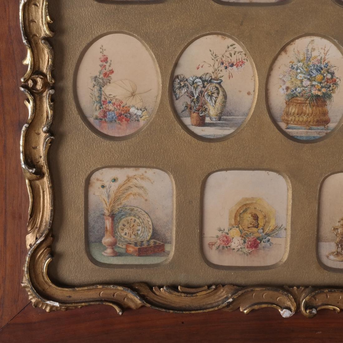 Miniature Still Life Paintings, Antique - 4