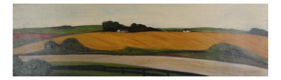 Pamela Morgan: Bridgehampton, Oil on Panel - 2