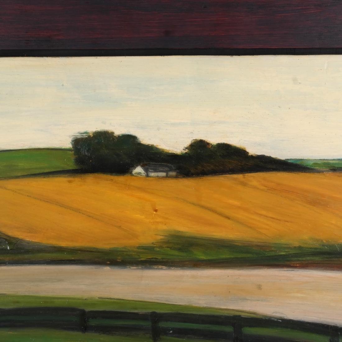 Pamela Morgan: Bridgehampton, Oil on Panel - 3