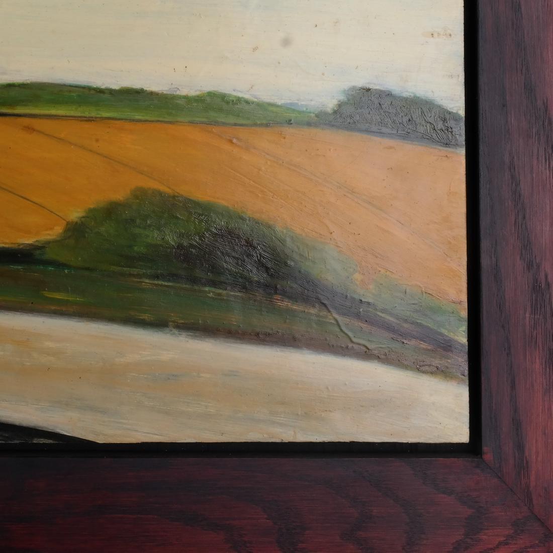 Pamela Morgan: Bridgehampton, Oil on Panel - 4