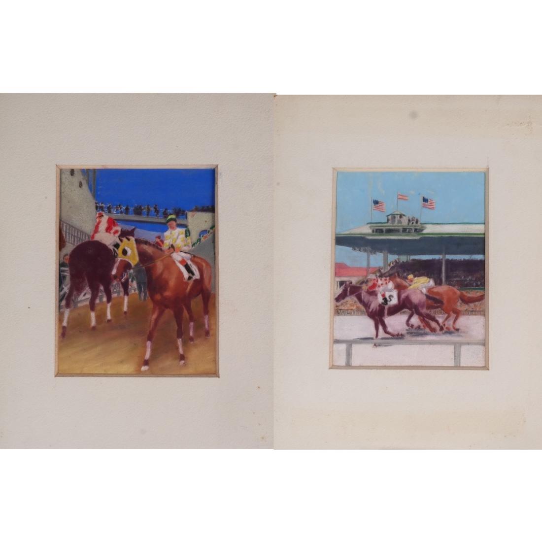 Equestrian Pastel Paintings
