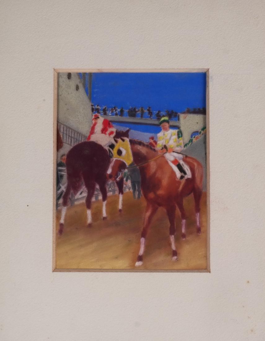Equestrian Pastel Paintings - 2
