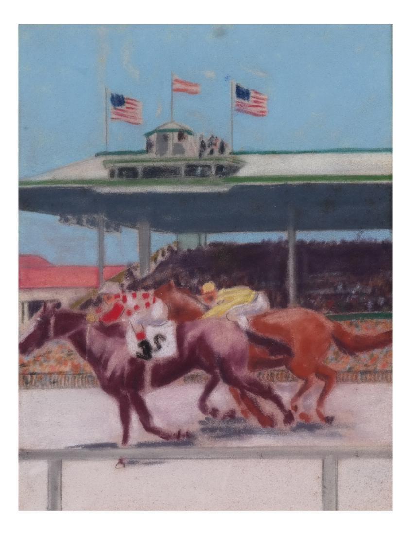 Equestrian Pastel Paintings - 7