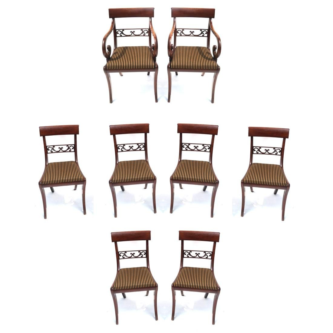 12 Regency-Style Dining Chairs