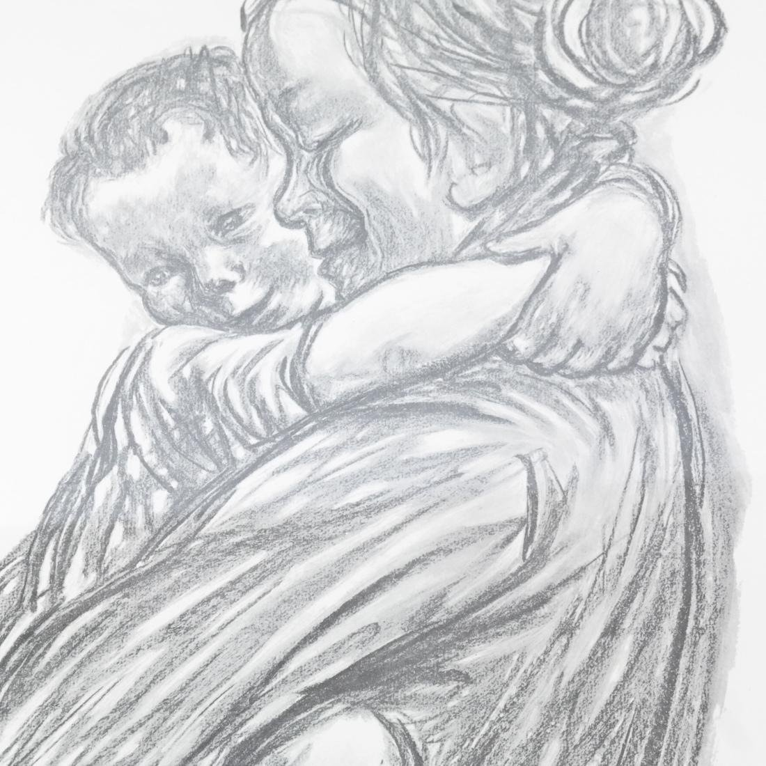 Kathe Kollwitz Mother Child Print - 4