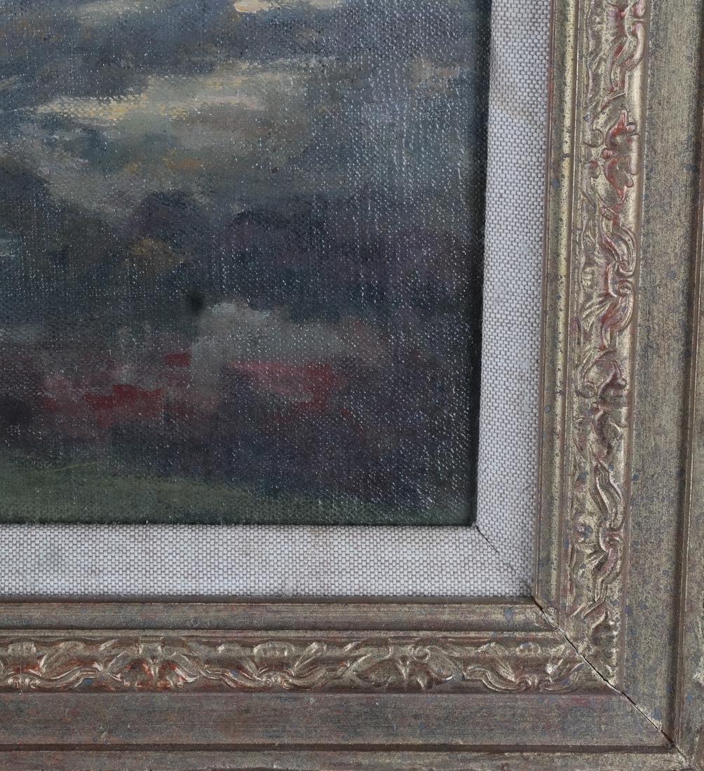 Pastoral Landscape Oil on Canvas - 4