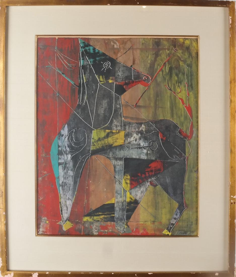 Color Print Abstract Horse - 2