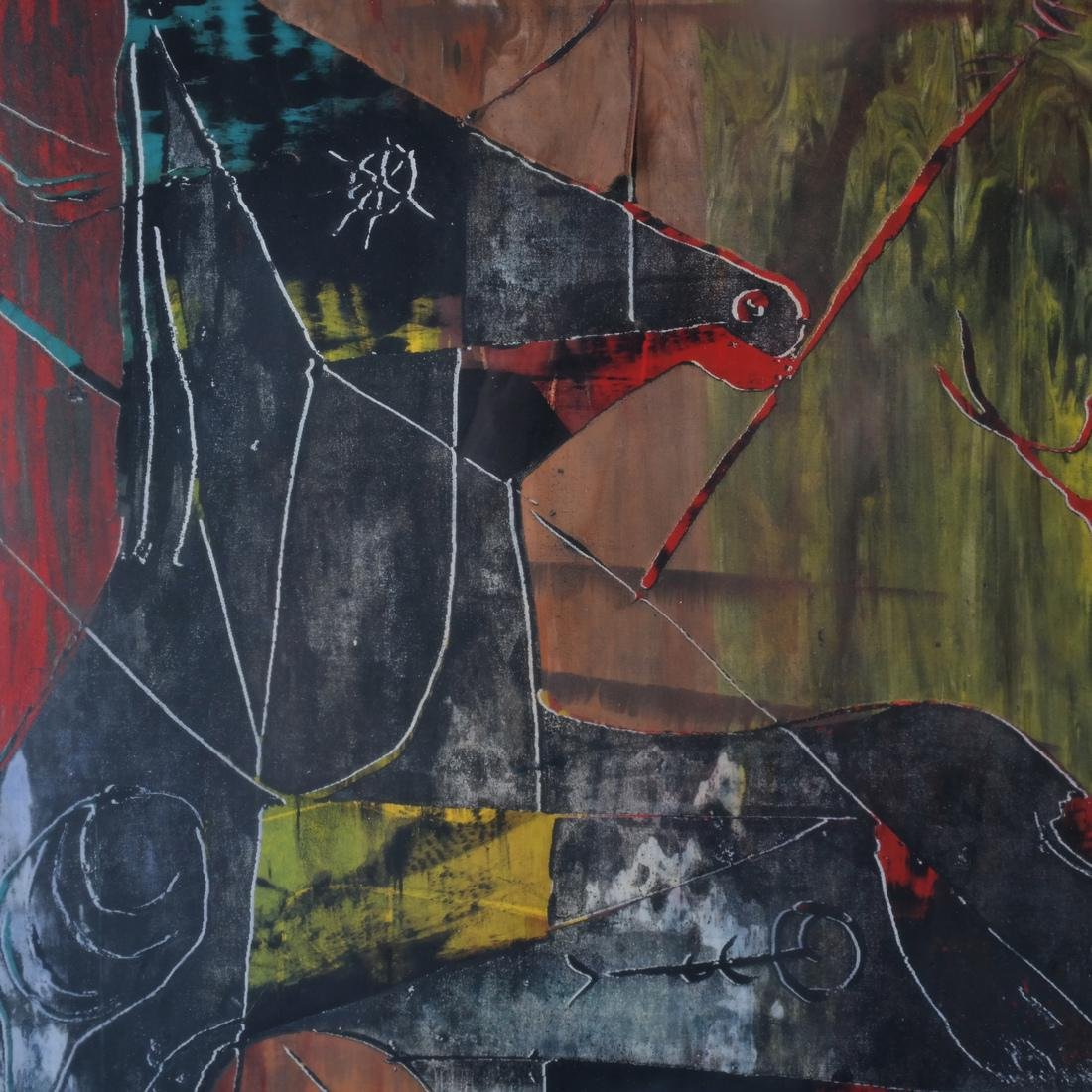 Color Print Abstract Horse - 3