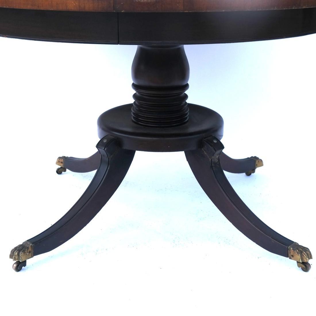 Mahogany Circular Dining Room Table - 3