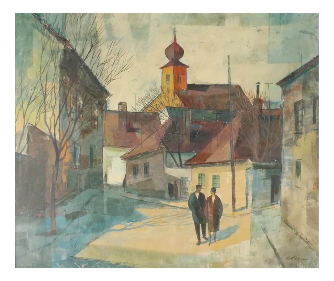 Modernist Figures - Oil on Canvas