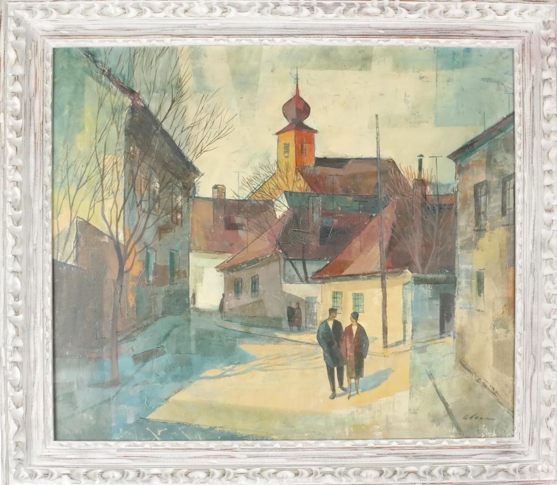 Modernist Figures - Oil on Canvas - 2