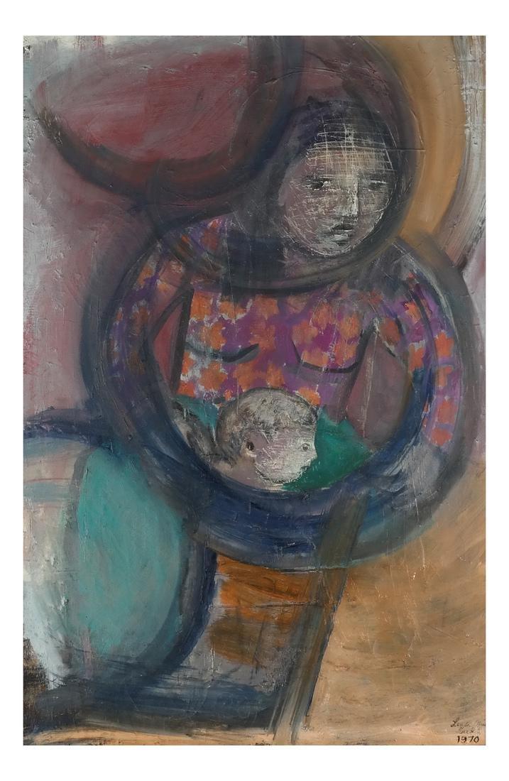 Linda Mia Turkel Modernist Family O/C