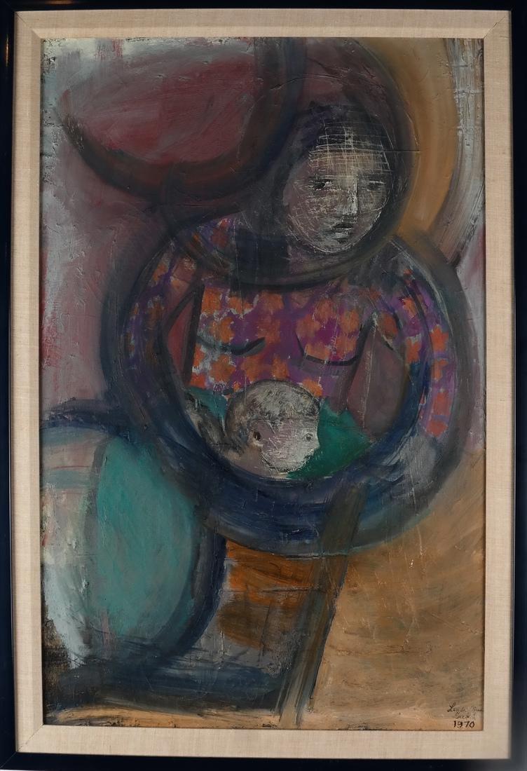 Linda Mia Turkel Modernist Family O/C - 2