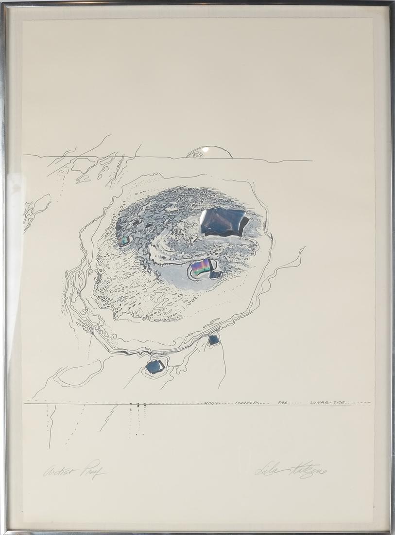 "Lila Katzen ""Moon Marker"" Lithograph - 2"