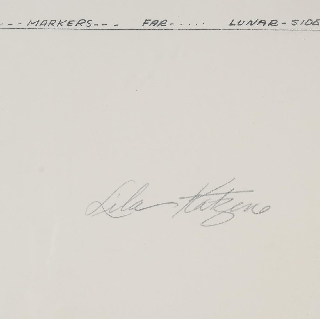 "Lila Katzen ""Moon Marker"" Lithograph - 3"