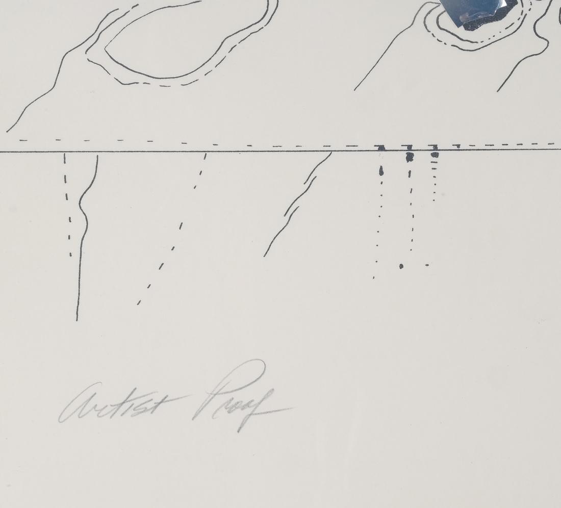 "Lila Katzen ""Moon Marker"" Lithograph - 4"