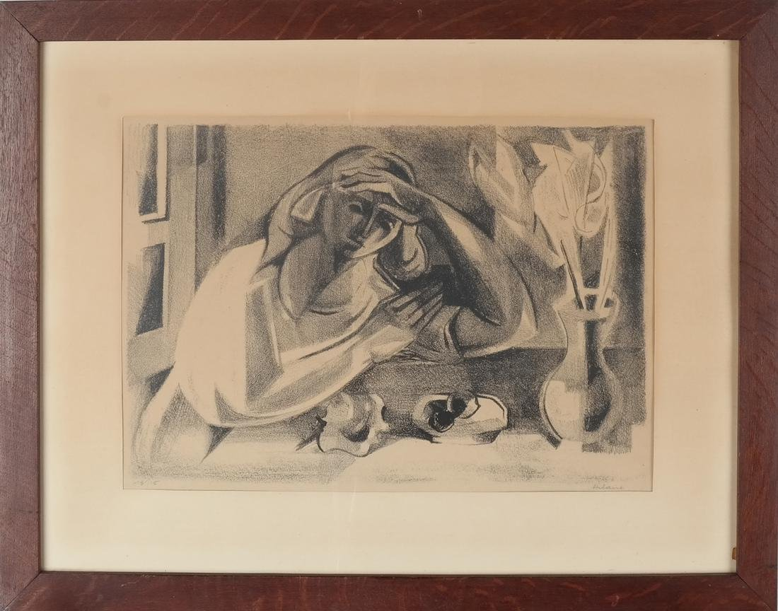 Hilaire, Woman Resting Pencil on Paper - 2