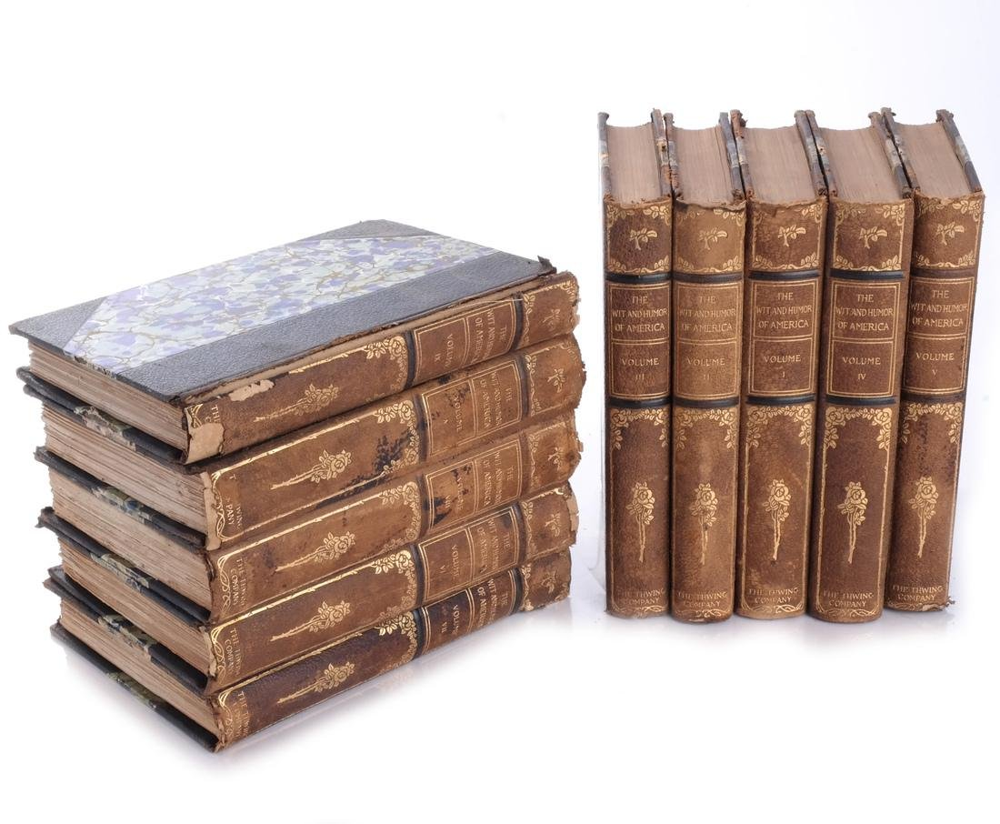 """Books: """"The Wit and Humor of America"""" 10 Vols."""