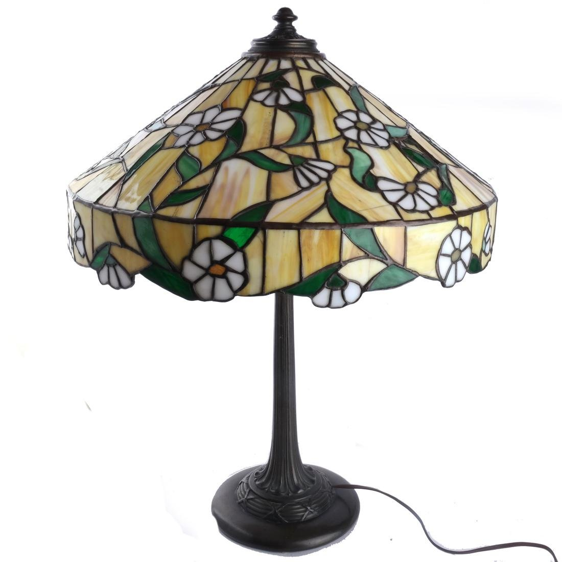 Tiffany-Style Leaded Stained Glass Lamp