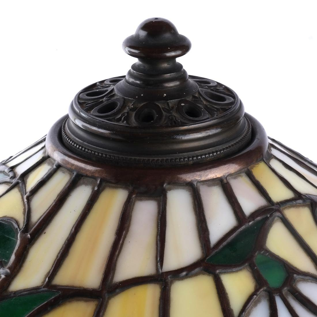 Tiffany-Style Leaded Stained Glass Lamp - 7