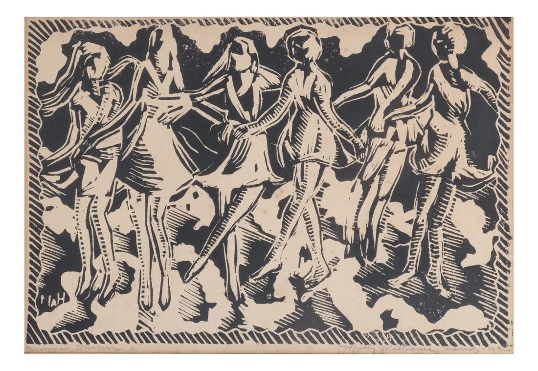 Molly Hand: Figures, Woodcut