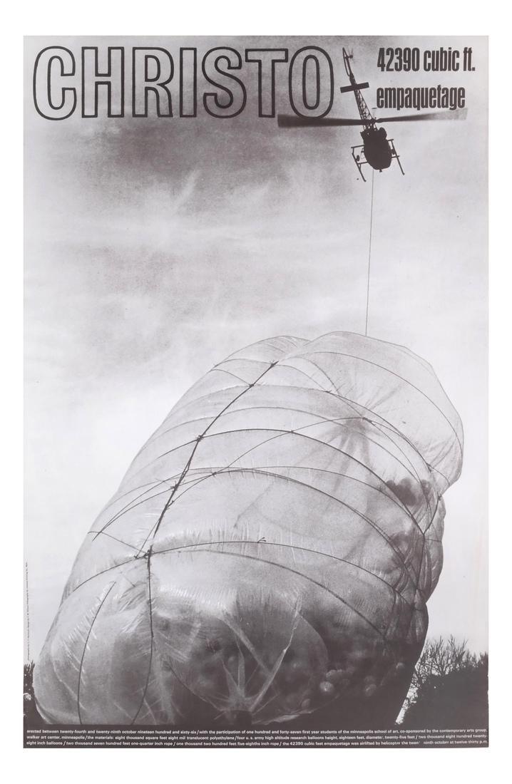 "Jean-Claude Christo: ""42390 Cubic Foot Em..."""