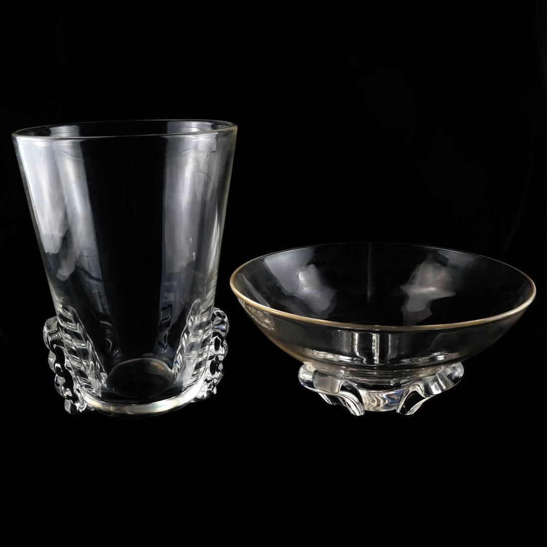 Four Glass Vessels, Signed Steuben - 2