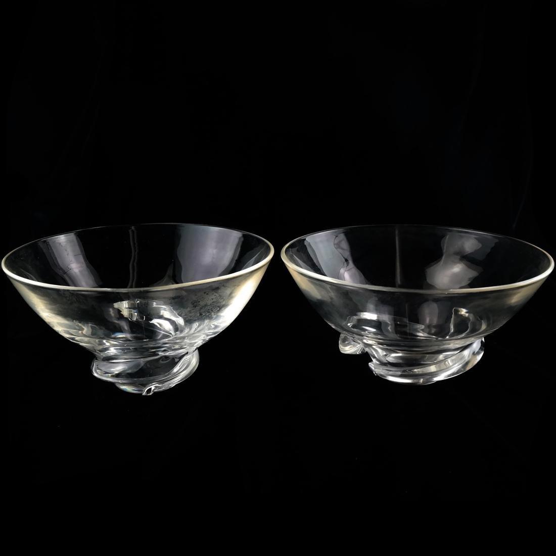 Four Glass Vessels, Signed Steuben - 4