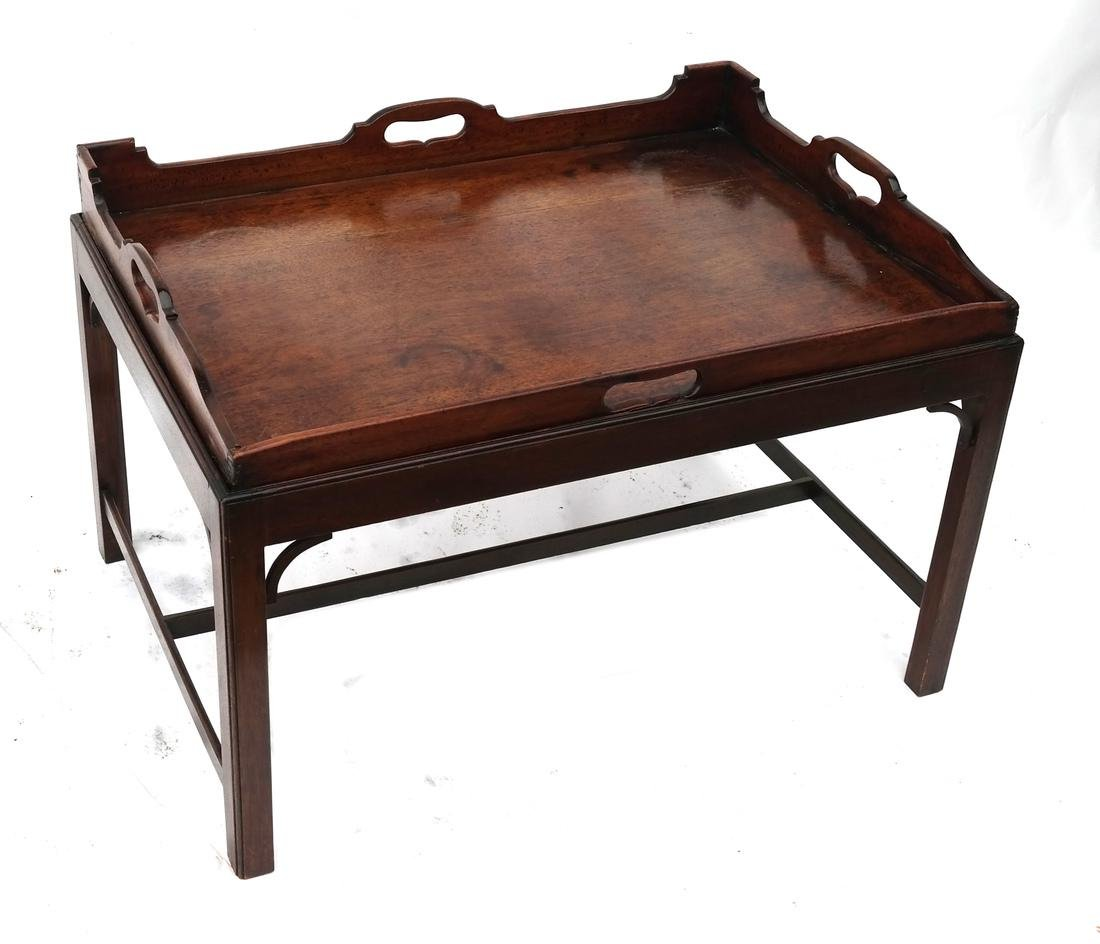 Antique English Tray-Top Butler's Table