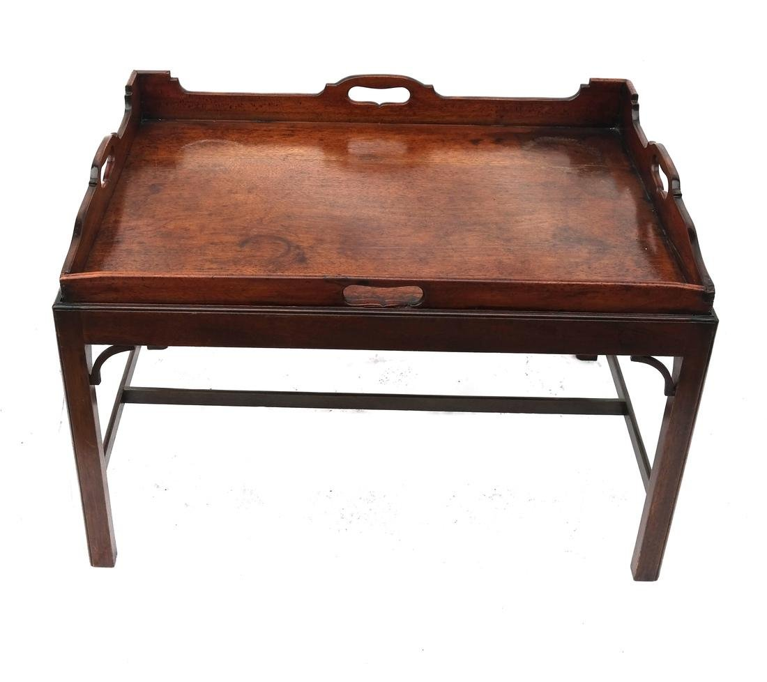 Antique English Tray-Top Butler's Table - 2