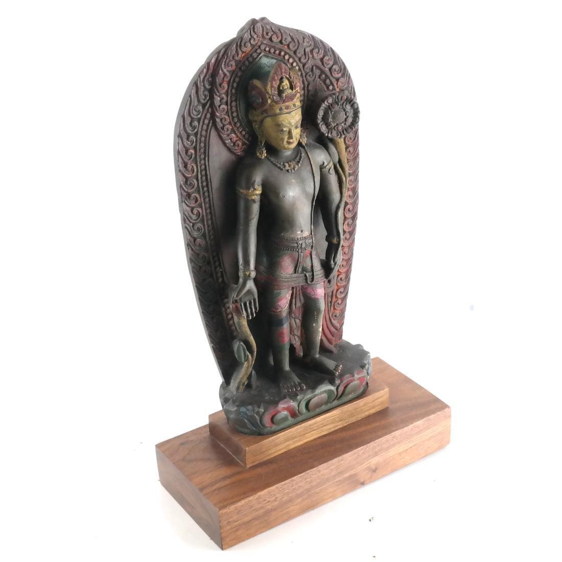 Nepalese Stone Buddha & Stand - 2